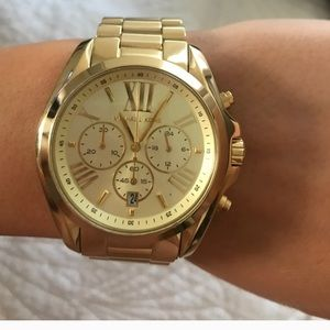 Michael Kors Accessories - Brand New Never Worn Gold MK watch
